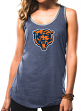 """Chicago Bears Women's Majestic NFL """"Tested"""" Tri-Blend Tank Top Shirt"""
