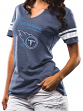 """Tennessee Titans Women's Majestic NFL """"Game Tradition"""" Tri-Blend T-shirt"""