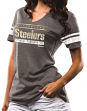"Pittsburgh Steelers Women's Majestic NFL ""Going For Two"" Tri-Blend T-shirt"