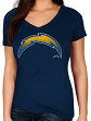 """San Diego Chargers Women's Majestic NFL """"Defiant Victory"""" Short Sleeve T-shirt"""