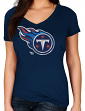 "Tennessee Titans Women's Majestic NFL ""Defiant Victory"" Short Sleeve T-shirt"