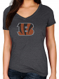 "Cincinnati Bengals Women's Majestic NFL ""Diamond Dreams"" Short Sleeve T-shirt"