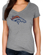 "Denver Broncos Women's Majestic NFL ""Diamond Dreams"" Short Sleeve T-shirt"