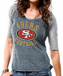 "San Francisco 49ers Women's Majestic NFL ""Champion"" Scoop Neck Raglan T-shirt"