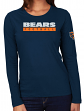 "Chicago Bears Women's Majestic NFL ""Never Rest"" Long Sleeve T-shirt"