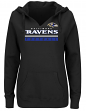 "Baltimore Ravens Women's Majestic NFL ""Determination"" Hooded Sweatshirt"