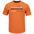 "Denver Broncos Majestic NFL ""Line of Scrimmage 2"" Men's T-Shirt - Orange"