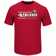 """San Francisco 49ers Majestic NFL """"Line of Scrimmage 2"""" Men's T-Shirt - Red"""