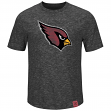 "Arizona Cardinals Majestic NFL ""Hyper Logo"" Men's Premium Slub T-Shirt"