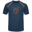 "Chicago Bears Majestic NFL ""Fanfare 8"" Men's Short Sleeve Cool Base Shirt"