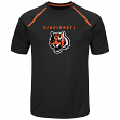 "Cincinnati Bengals Majestic NFL ""Fanfare 8"" Men's Short Sleeve Cool Base Shirt"