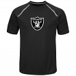"Oakland Raiders Majestic NFL ""Fanfare 8"" Men's Short Sleeve Cool Base Shirt"