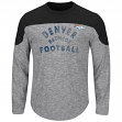"Denver Broncos Majestic NFL ""Corner Blitzer"" Men's Long Sleeve Gray Slub Shirt"