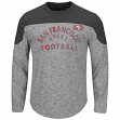 "San Francisco 49ers Majestic NFL ""Corner Blitzer"" Long Sleeve Gray Slub Shirt"