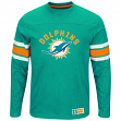 "Miami Dolphins Majestic NFL ""Powerful Hit"" Men's Long Sleeve Crew Shirt"