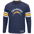 """San Diego Chargers Majestic NFL """"Powerful Hit"""" Men's Long Sleeve Crew Shirt"""