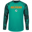 "Miami Dolphins Majestic NFL ""League Rival"" Men's Cool Base L/S Shirt"