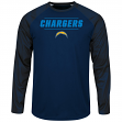 "San Diego Chargers Majestic NFL ""League Rival"" Men's Cool Base L/S Shirt"
