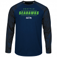 "Seattle Seahawks Majestic NFL ""League Rival"" Men's Cool Base L/S Shirt"