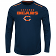 "Chicago Bears Majestic NFL ""Fanfare IX"" Men's Cool Base L/S Shirt"