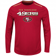 "San Francisco 49ers Majestic NFL ""Fanfare IX"" Men's Cool Base L/S Shirt"