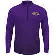 "Baltimore Ravens Majestic NFL ""Intimidating"" 1/2 Zip Mock Neck Pullover Shirt"