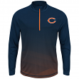 """Chicago Bears Majestic NFL """"Intimidating"""" 1/2 Zip Mock Neck Pullover Shirt"""