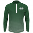 "New York Jets Majestic NFL ""Intimidating"" 1/2 Zip Mock Neck Pullover Shirt"