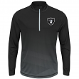 "Oakland Raiders Majestic NFL ""Intimidating"" 1/2 Zip Mock Neck Pullover Shirt"