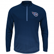 """Tennessee Titans Majestic NFL """"Intimidating"""" 1/2 Zip Mock Neck Pullover Shirt"""