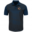 "Chicago Bears Majestic NFL ""Club Seat"" Men's Short Sleeve Polo Shirt"