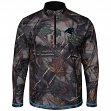 "Carolina Panthers Majestic NFL ""Woods"" Men's 1/2 Zip Camouflage Sweatshirt"