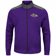 "Baltimore Ravens Majestic NFL ""Team Tech"" Men's Full Zip Jacket Sweatshirt"