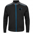 "Carolina Panthers Majestic NFL ""Team Tech"" Men's Full Zip Jacket Sweatshirt"