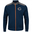 "Chicago Bears Majestic NFL ""Team Tech"" Men's Full Zip Jacket Sweatshirt"