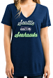 """Seattle Seahawks Women's Majestic NFL """"Day Game"""" Burnout V-neck Shirt"""