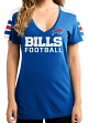 "Buffalo Bills Women's Majestic NFL ""Pride Playing"" V-neck Fashion Top"