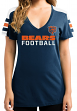 "Chicago Bears Women's Majestic NFL ""Pride Playing"" V-neck Fashion Top"
