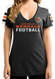 "Cincinnati Bengals Women's Majestic NFL ""Pride Playing"" V-neck Fashion Top"