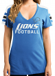 "Detroit Lions Women's Majestic NFL ""Pride Playing"" V-neck Fashion Top"