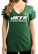 """New York Jets Women's Majestic NFL """"Pride Playing"""" V-neck Fashion Top"""