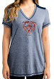 "Chicago Bears Women's Majestic NFL ""Bright Lights"" V-neck Fashion Top"