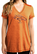 "Denver Broncos Women's Majestic NFL ""Bright Lights"" V-neck Fashion Top"