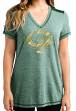 "Green Bay Packers Women's Majestic NFL ""Bright Lights"" V-neck Fashion Top"