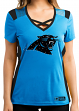 "Carolina Panthers Women's Majestic NFL ""Draft Me 2"" Jersey Top Shirt"
