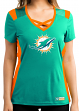 "Miami Dolphins Women's Majestic NFL ""Draft Me 2"" Jersey Top Shirt"