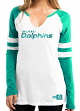 "Miami Dolphins Women's Majestic NFL ""Coin Toss"" Long Sleeve Raglan Shirt"