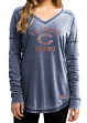 """Chicago Bears Women's Majestic NFL """"Victory Play"""" Long Sleeve Shirt"""