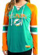 "Miami Dolphins Women's Majestic NFL ""Winning Style"" Long Sleeve Shirt"