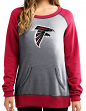 "Atlanta Falcons Women's Majestic NFL ""O.T. Queen"" French Terry Sweatshirt"